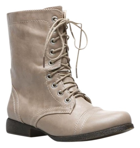 ShoeDazzle Taupe Boots Colleen Size 7.5