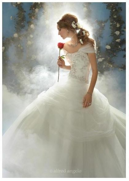 Alfred angelo disney fairy tale 39 s belle style 206 wedding for Belle style wedding dress