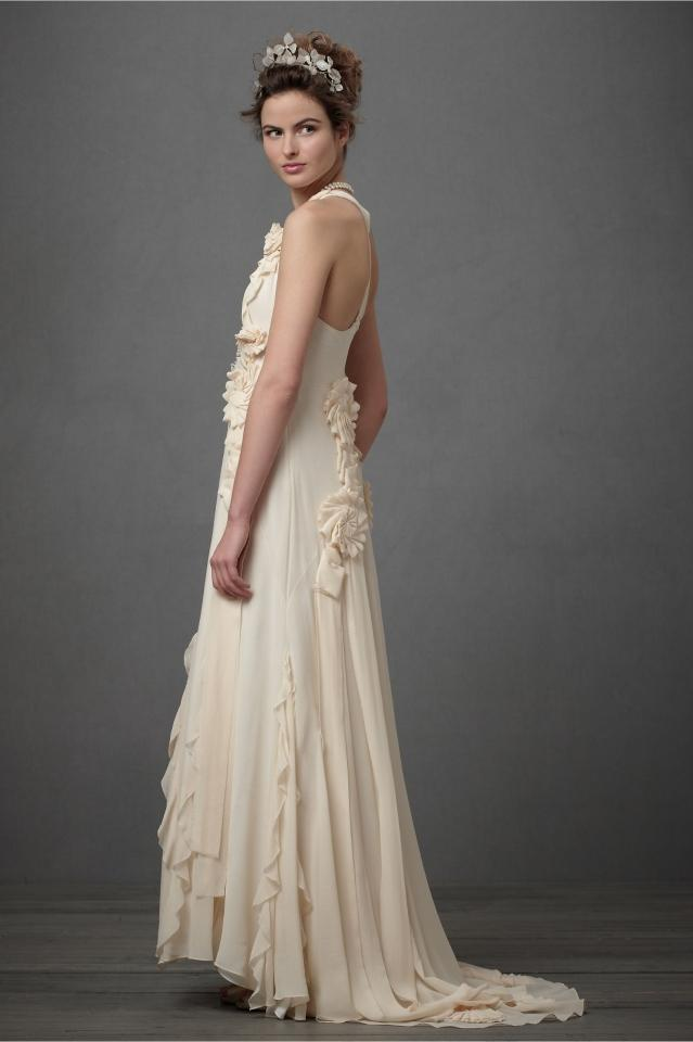 bhldn avante garde gown wedding dress