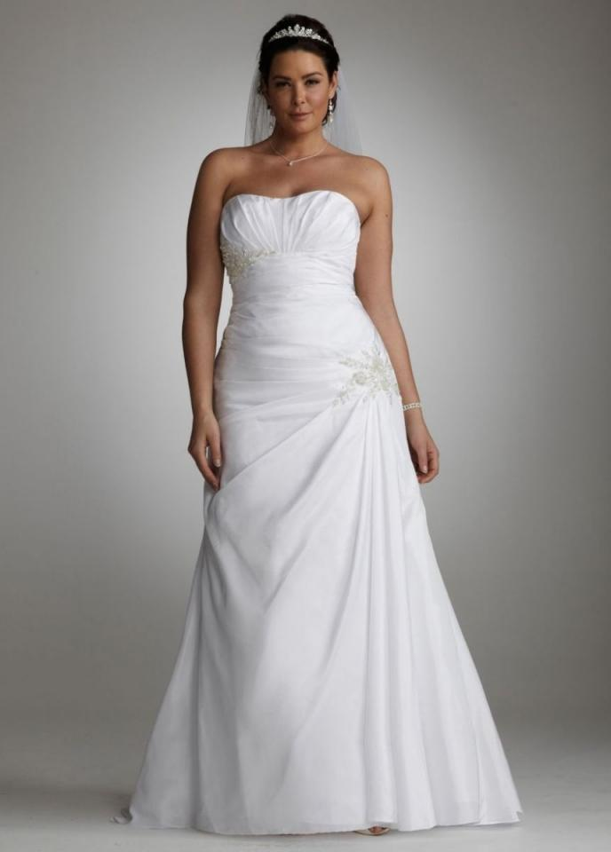 David 39 s bridal 9wg3032 wedding dress tradesy weddings for Wedding dress david bridal