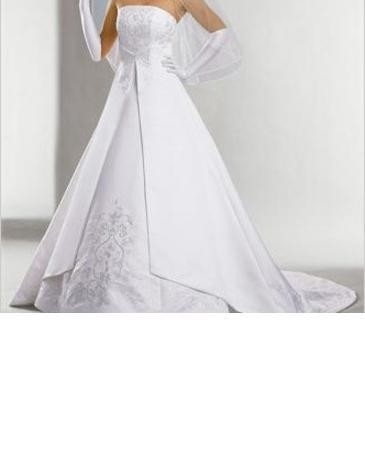 David 39 s bridal strapless with embroidered chapel train st for St tropez wedding dress