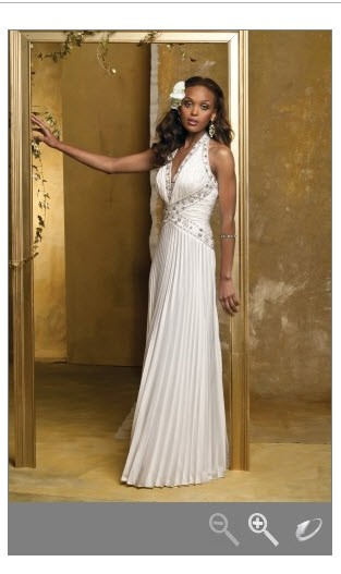 All over pleated satin halter gown 41770 2027w wedding for Camille la vie wedding dresses