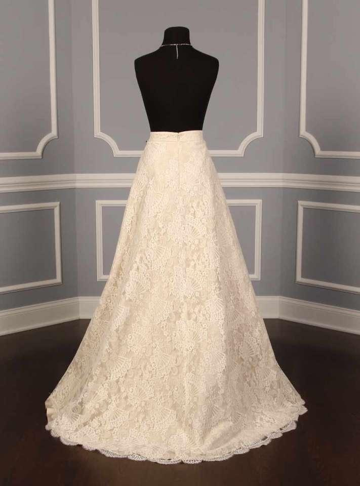 Monique lhuillier chantilly lace couture bridal skirt for Chantilly lace wedding dress