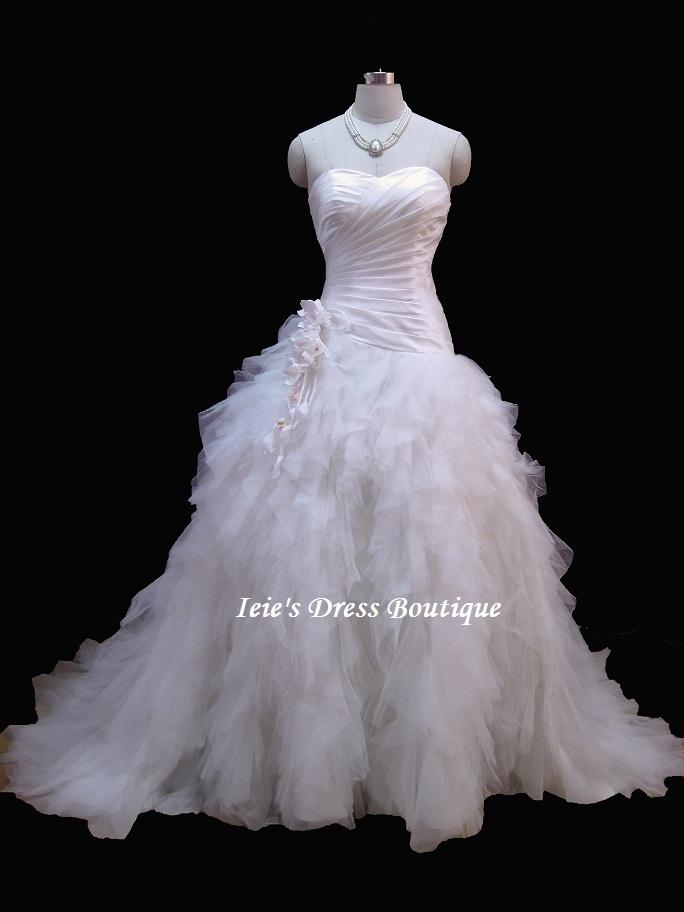 Layered tulle skirt wedding dress wedding dress tradesy for Tulle layered wedding dress