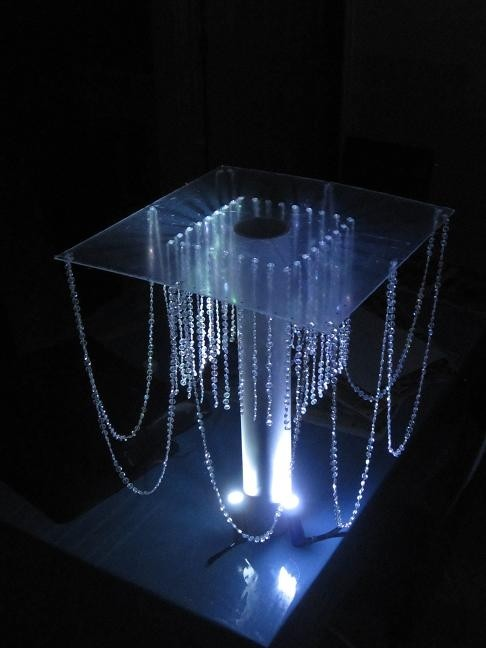 homemade crystal chandelier centerpiece tradesy weddings