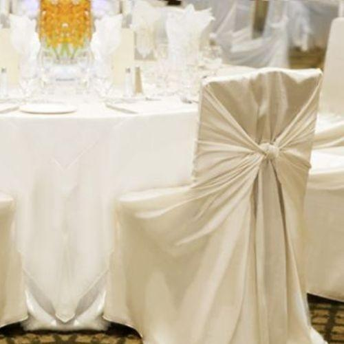 satin ivory chair covers set of 100 b 20 off tradesy weddings
