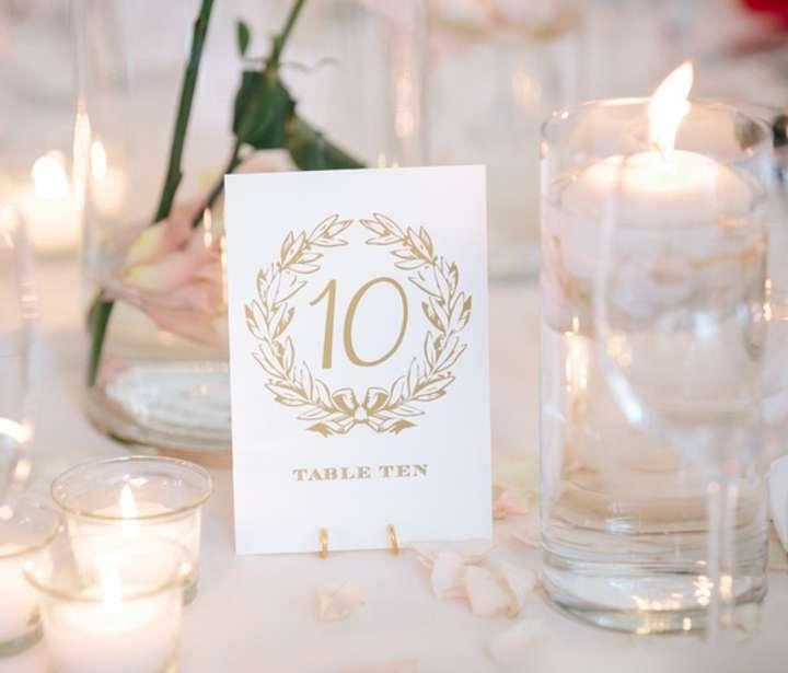 Wedding Table Number Holders Gold