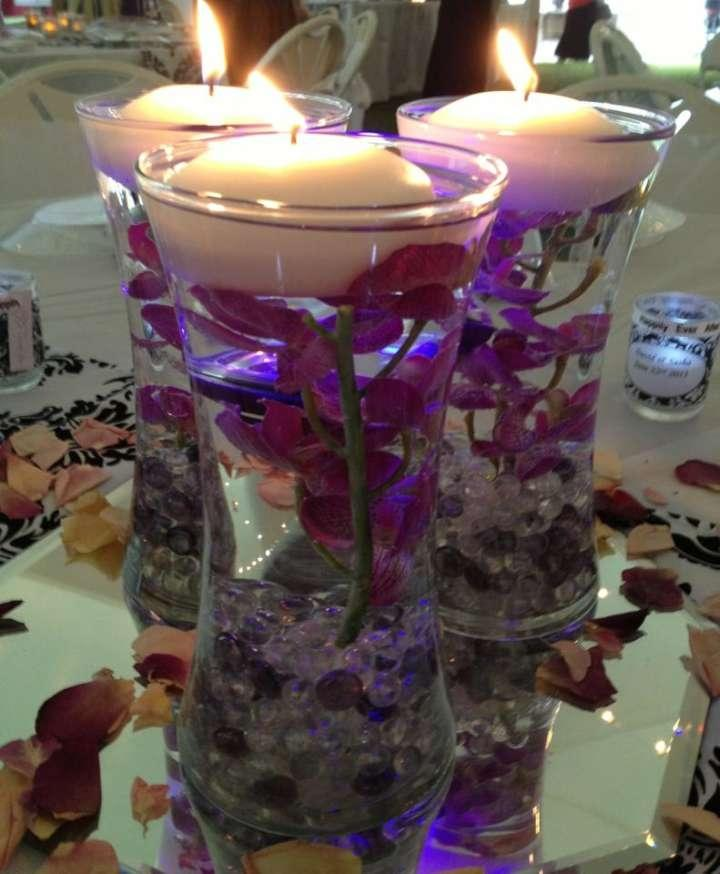 Purple and clear vase fillers off tradesy weddings