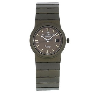 IWC Iwc Schaffhausen Sl Design Military Green Titanium Quartz Womens Watch