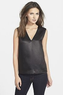 J Brand Riley Faux Snakeskin Top Black