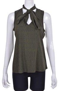 J Brand J Womens Green Printed Sleeveless Shirt Top Multi-Color