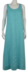 J. Jill Womens Petite Mp Casual Sleeveless Full Length Sheath Dress