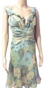 J. Mendel Paris Multicolored Dress Blue Floral Dress