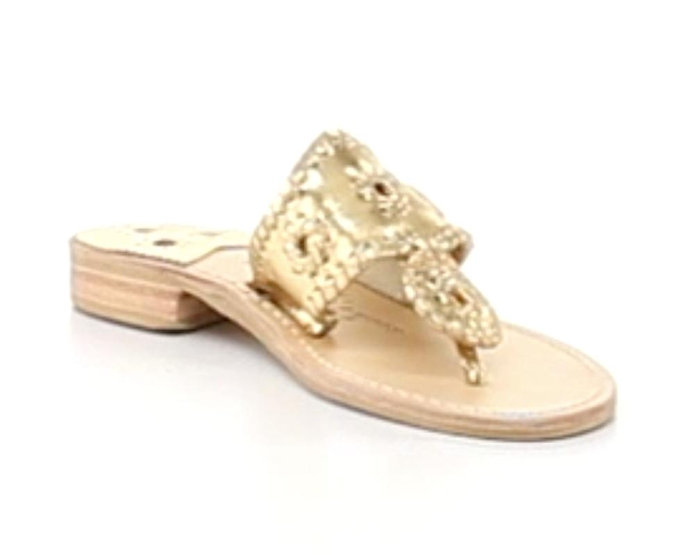 Jack Rogers oro Navajo Hamptons Metallic Palm Beach Thong Metallic Hamptons Pelle   151975