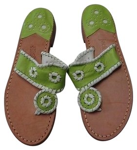 Jack Rogers Usa Tan Green And White Sandals