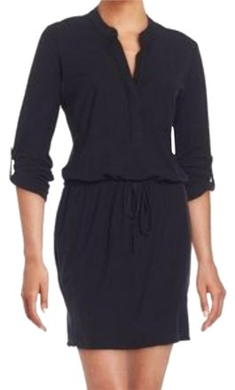 30%OFF James Perse Black Cotton Drawstring Maxi Dress - 48% Off Retail