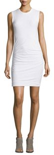 James Perse short dress White Ruched Sleeveless on Tradesy
