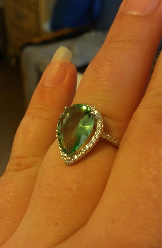 jared 18k white gold plated green la mozel magnificent