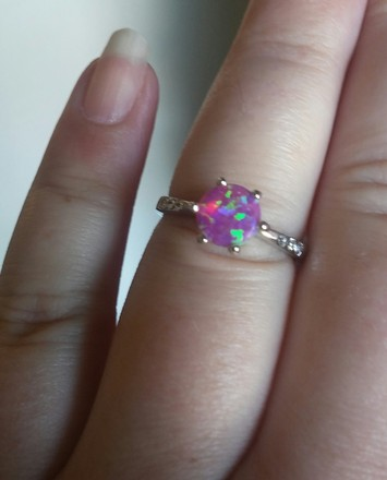Jared Fire Glowing & White Stone Ring