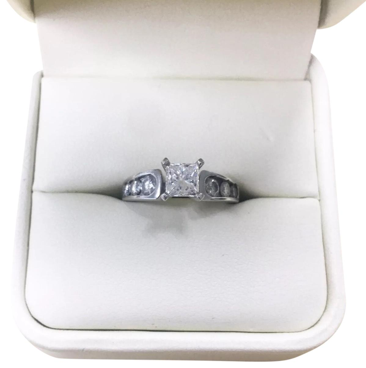 Jared White Gold 14k 125 Tcw Princess Cut Solitaire Diamond