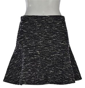 J.Crew Womens Tweed A Line Above Knee Career Skirt Black