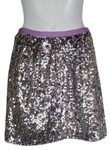 J.Crew J Crew Collection Women Lilac Skirt Lilac, Silver