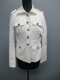J.Crew Off Cotton Casual White Jacket