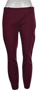 J.Crew Minnie Womens Wine Solid Casual Trouser Pants
