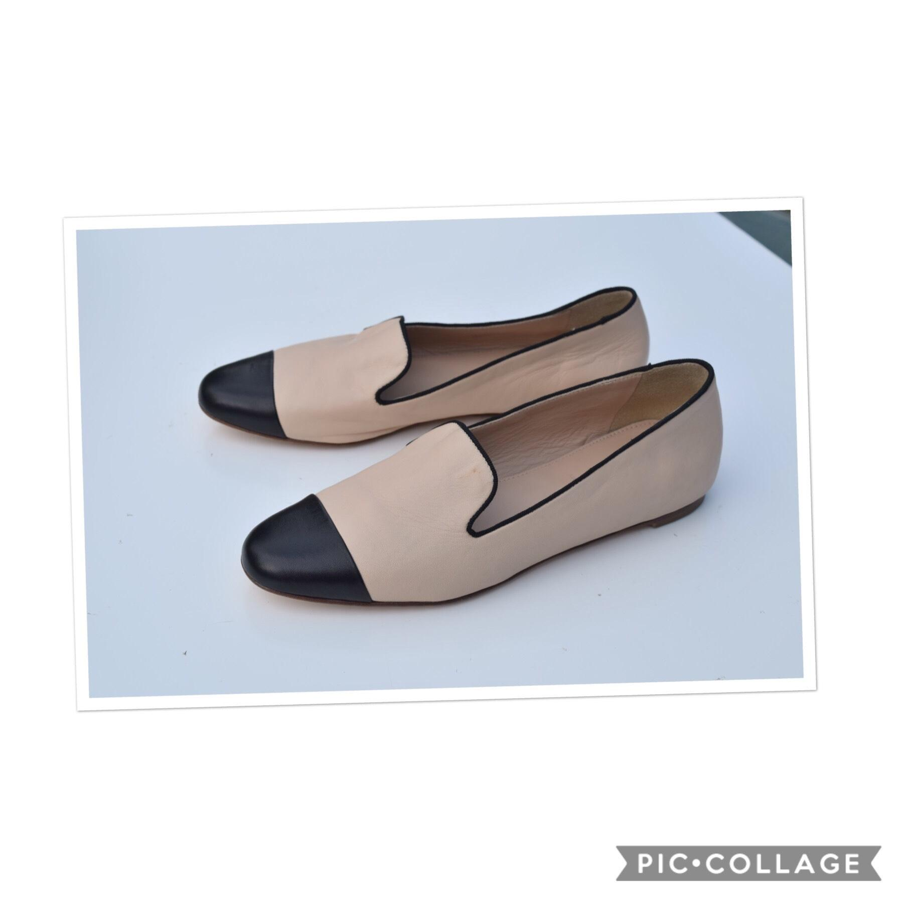 93ab572a03c4 J.Crew Cream Black Darby Cap Toe Loafers Flats Size Size Size US 6.5  Regular (M