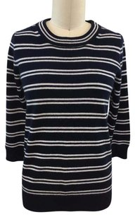 J.Crew Crew White Striped Sweater