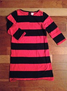 J.Crew short dress GIRLS CREWCUTS RUGBY STRIPED BLUE RED 3/4 SLEEVE DRESS on Tradesy