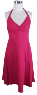 J.Crew short dress Pink J Crew Hot Halter on Tradesy