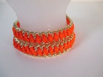J.Crew J.crew Orange Braided Gold Friendship Bracelet Set Of Each