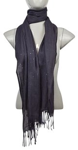J.Crew J Crew Womens Purple Scarf One Sequined Metallic Cotton Casual