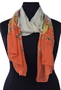 J.Crew J Crew Womens Ivory Scarf Os Printed Cotton Casual