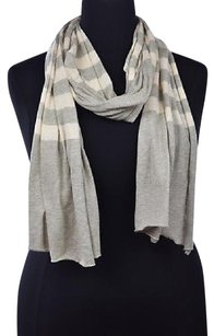 J.Crew J Crew Womens Gray Scarf Os Speckled Striped Cotton Casual
