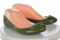 J.Crew Womens Jelly Rubber Slip On Casual Green Flats