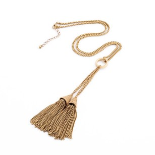 J.Crew New!! Dual Tassel Necklace