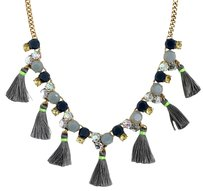 J.Crew New Olive Thread Tassel Necklace