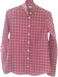 J.Crew Plaid Flannel Button Down Button Down Shirt Red