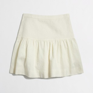 J.Crew Jacquard Flare In Floral Item B8213 Skirt cream