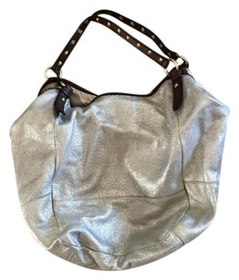 J.Crew Tote in Foiled Silver