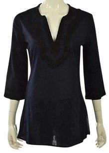 J.Crew Womens Navy 34 Sleeve Cotton Casual Shirt Tunic