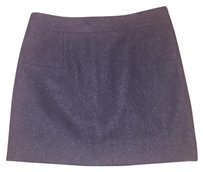 J.Crew Wool Mini Pencil Mini Skirt Grey