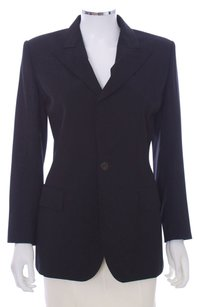 Jean-Paul Gaultier Cut-out Cutaway Open Backless Wool Mohair Italian Designer Rare Black Blazer