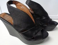 Jeffrey Campbell Wedge High Heels W Open Toes Synthetic B3246 Black Platforms