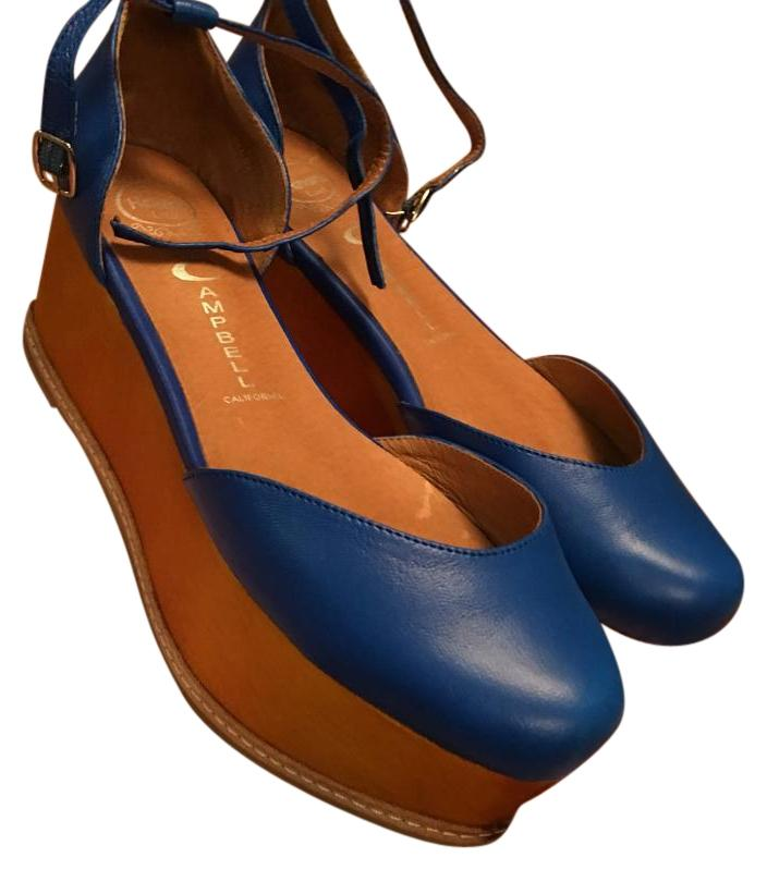ca12e9e439b6 Jeffrey Campbell Blue Wedges Size US 6.5 Regular Regular Regular (M ...