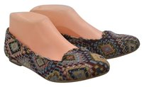 Jeffrey Campbell Womens Blue Red Loafers 6m Textile Flats