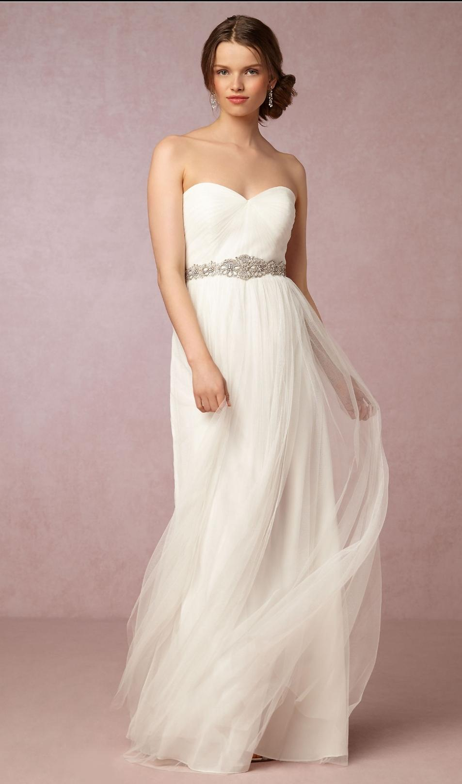 Jenny Yoo Ivory Tulle Annabelle From Bhldn Never Worn Destination Wedding  Dress Size 12 (L