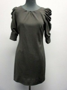 Jessica Simpson Half Sleeves Solid Zip Knee Length 482 A Dress